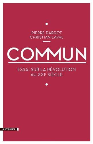 Couverture du livre Commun par Pierre dardot et Christian Laval